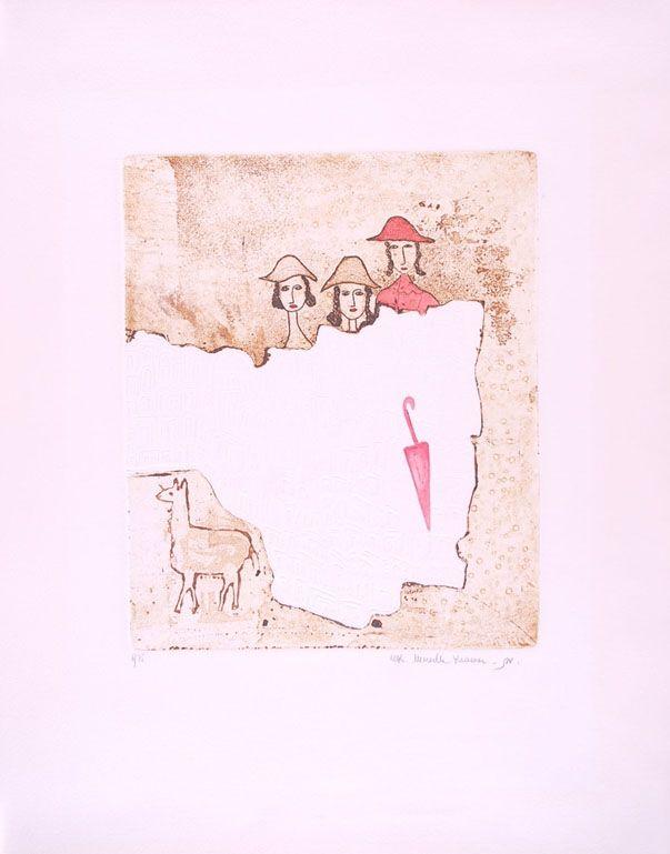 Aguafuerte Y Aguatinta Kramer - Rain Storm