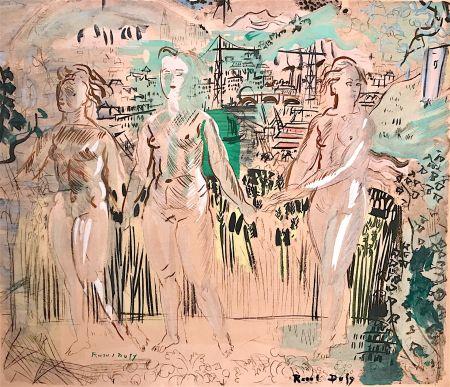Litografía Dufy - Raoul DUFY- Les Trois Grâces