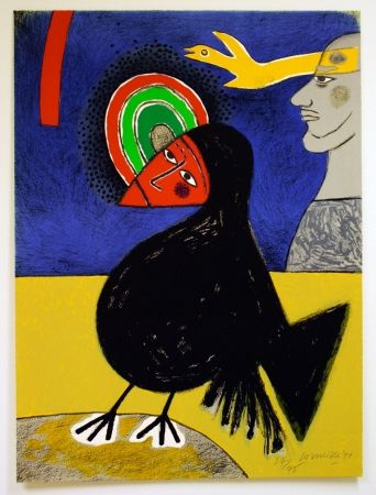 Litografía Corneille - Raven No. 3