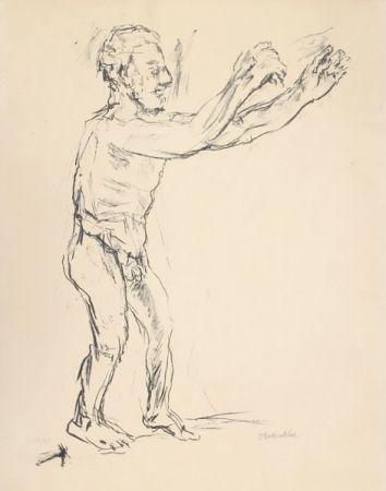 Litografía Kokoschka - Reaching Man