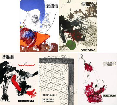 Libro Ilustrado Rebeyrolle - REBEYROLLE : Collection complète des 5 volumes de la revue DERRIÈRE LE MIROIR consacrés à Paul Rebeyrolle (parus de 1967 à 1976). 32 LITHOGRAPHIES ORIGINALES.