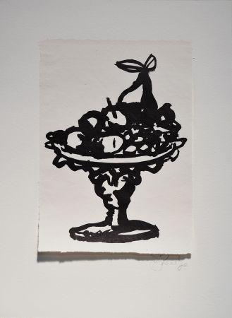 Linograbado Kentridge - Rebus Fruitbowl