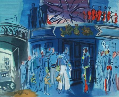 Litografía Dufy - Reception d'in amiral Anglais sur un bateua Francais