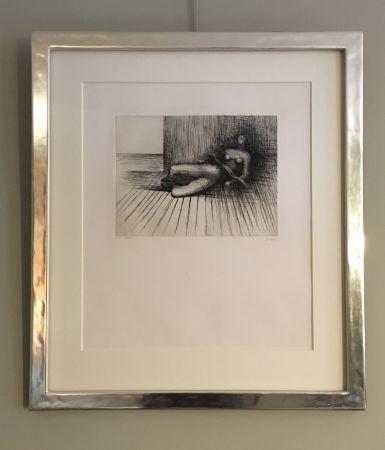 Grabado Moore - Reclining Figure