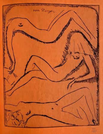 Grabado Van Dongen - Reclining Nudes