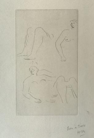 Grabado Moore - Reclining Nudes