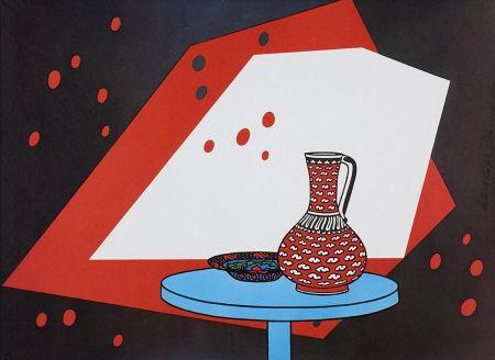 Litografía Caulfield - Red and White Still Life