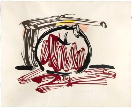 Grabado En Madera Lichtenstein - Red Apple, from Seven Apple Woodcuts Series (C. 196)