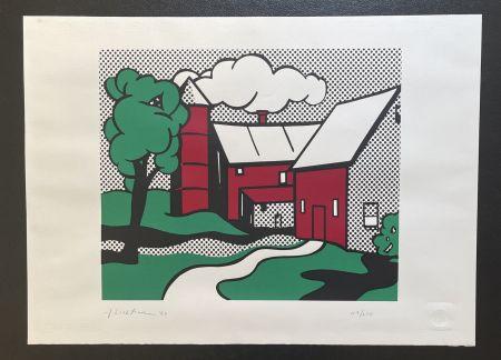 Serigrafía Lichtenstein -  Red Barn