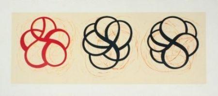 Litografía Kauffman - Red, Black, Black