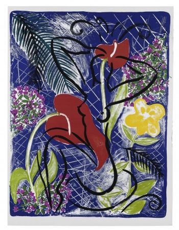Serigrafía Szczesny - Red Flowers