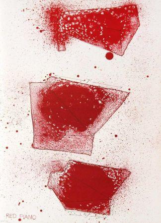 Litografía Dine - Red Piano