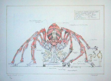 Litografía Delarozière - Red spider - la machine - Liverpool