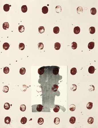 Litografía Brown - Red spots II