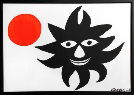 Litografía Calder - Red Sun
