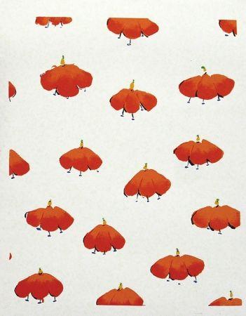 Serigrafía Sultan - Red Wall Flowers