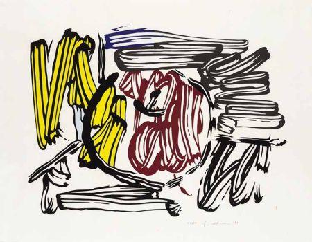 Grabado En Madera Lichtenstein - Red & Yellow Apple