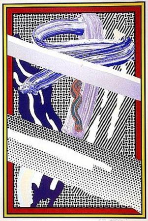 Serigrafía Lichtenstein - Reflections on an Expressionist Painting