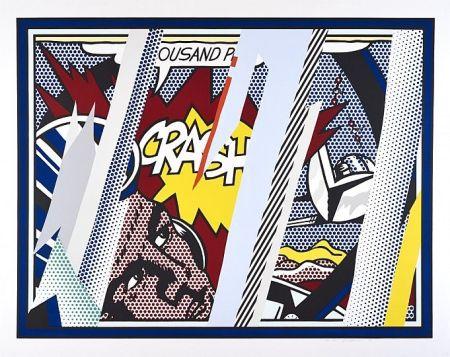 Serigrafía Lichtenstein - Reflections On Crash