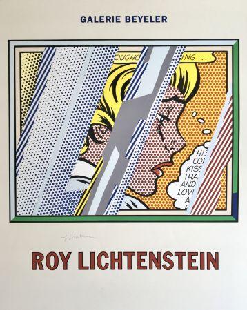 Litografía Lichtenstein - 'Reflections on Girl' Hand Signed Exhibition Poster