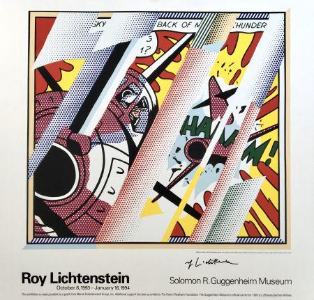 Litografía Lichtenstein - 'Reflections: Whaam!' Hand Signed Exhibition Poster