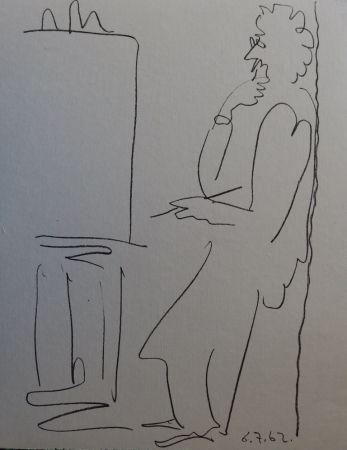 Litografía Picasso - Regards sur Paris - The painter