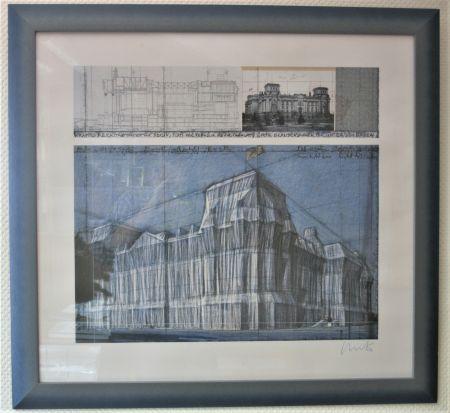 Estampa Numérica Christo & Jeanne-Claude - Reichstag verhüllt