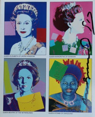 Serigrafía Warhol - Reigning Queens (invitation)