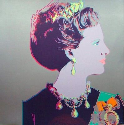 Serigrafía Warhol - Reigning Queens, Queen Margrethe II of Denmark