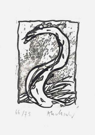 Aguafuerte Alechinsky - '' Rein, comme si de rien ''