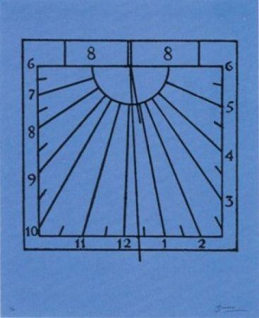 Litografía Brossa - Rellotge de sol