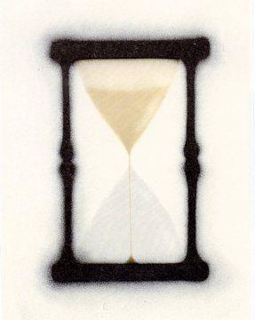 Litografía Ruscha - Reloj de arena
