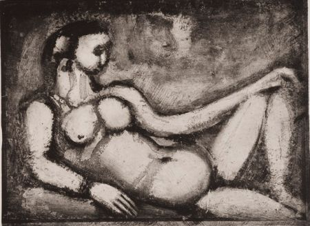 Aguatinta Rouault - Remords Posthume