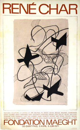 Litografía Braque - René  Char  Exposition Fondation Maeght