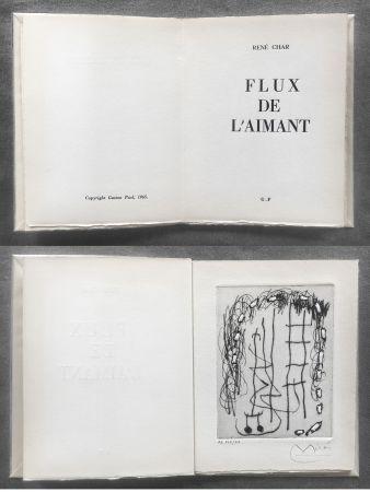 Libro Ilustrado Miró - René Char : FLUX DE L'AIMANT. Gravure de Joan Miró.