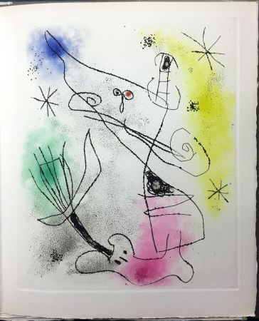 Libro Ilustrado Miró - René Crevel : FEUILLES ÉPARSES (Avec 14 gravures de Arp, Giacometti, Ernst, Man Ray, Masson, etc.). 1965.