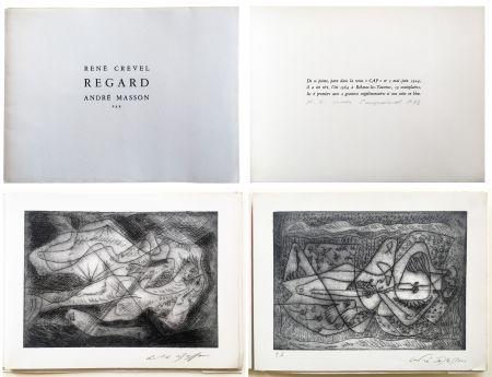 Libro Ilustrado Masson - René Crevel. REGARD. Gravure d'André Masson (1964)