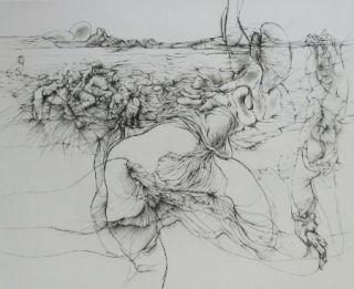 Aguafuerte Y Aguatinta Bellmer - Rencontre à l'Ile de Ré