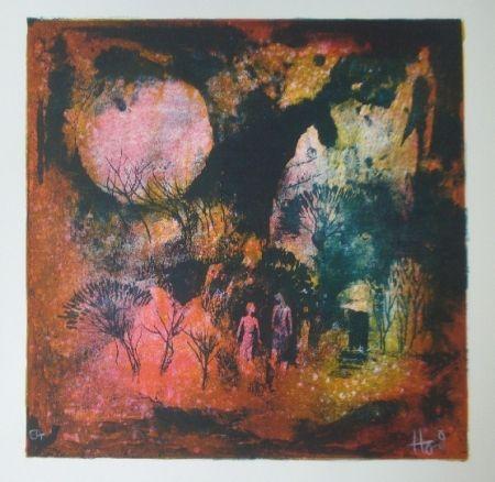 Litografía Lebadang - Rendez vous sous la lune