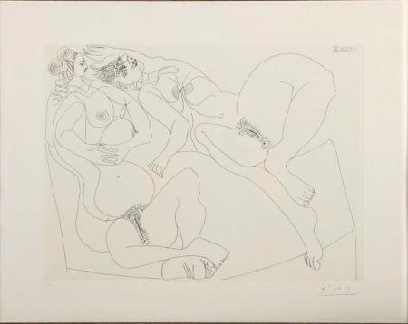 Aguafuerte Picasso - Repos. Deux Filles Bavardant
