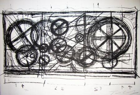 Litografía Tinguely -  Requiem pour une feuille morte