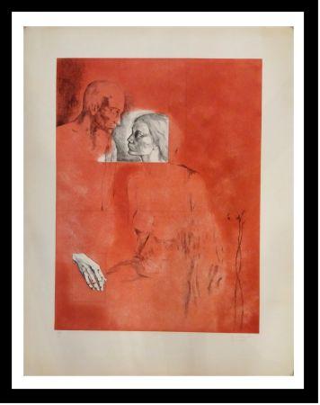 Grabado Gudiol - Retrato