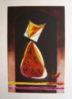 Aguafuerte Y Aguatinta De Juan - Retrato de Luisito en forma de pera