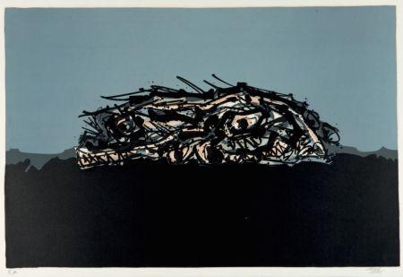 Litografía Saura - Retrato imaginario de Goya