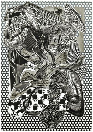 Serigrafía Stella - Riallaro (Black and White), from the Imaginary Places Series