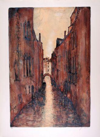 Litografía Gantner - Rio à Venise