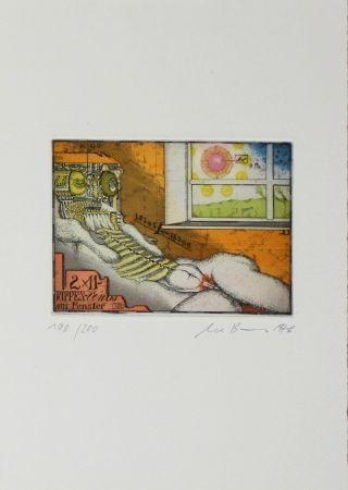 Aguafuerte Y Aguatinta Bremer - Rippenvenus am Fenster