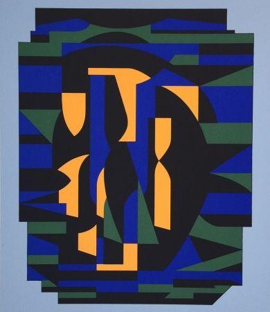 Serigrafía Vasarely - Risir, from Ion Album