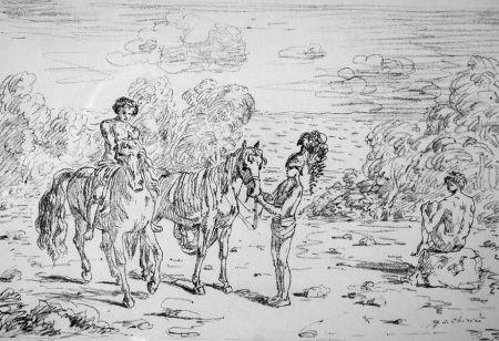 Litografía De Chirico - Ritorno alla sponda di Corinto