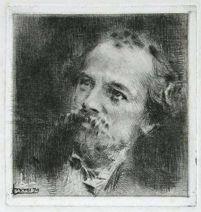 Grabado Conconi - RITRATTO DI TRANQUILLO CREMONA (Portrait of Tranquillo Cremona)